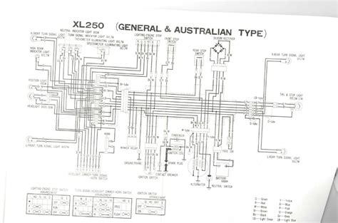 Honda Xl 350 Wiring Diagram by Servicemanuals The Junk S Adventures