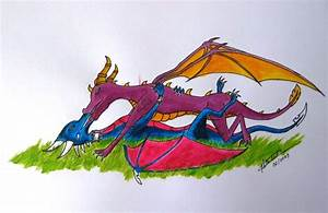 Spyro and Cynder kiss by JoJoRiS on DeviantArt