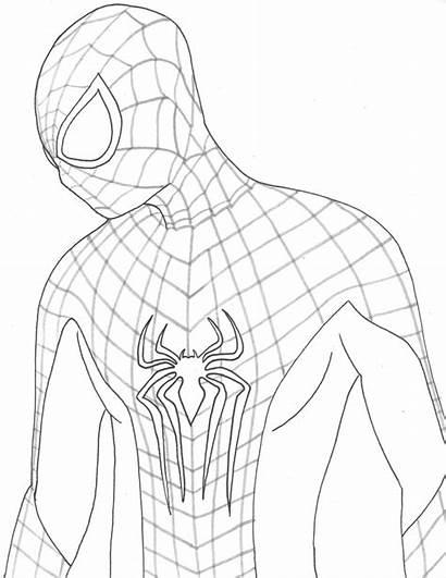 Amazing Line Spider Drawing Spiderman Garfield Andrew