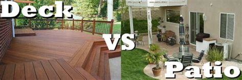 patio vs deck the great debate deck versus patio totally home