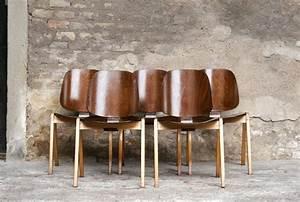 Chaise Bois Vintage : rare lot de chaises vintage en bois sign es thonet ~ Teatrodelosmanantiales.com Idées de Décoration