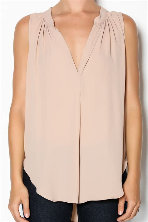 blush blouse olivaceous blush sleeveless blouse from miami by