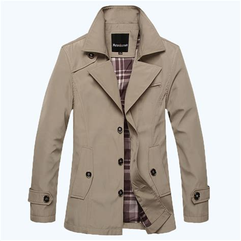 fashion trench mens outerwear jackets british style