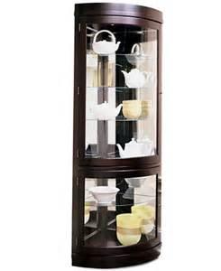 contemporary curved corner curio cabinet furniture macy s