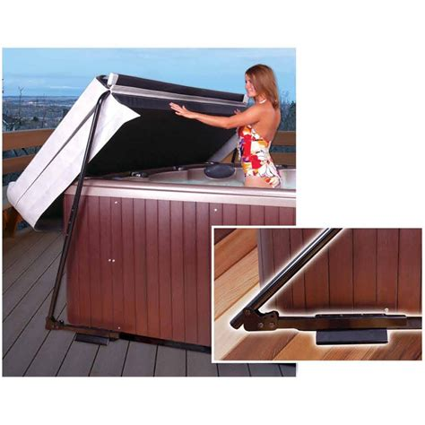 Corner Deck Steps by Ultra Lift Cover Lifter Undermount Lifters Spa