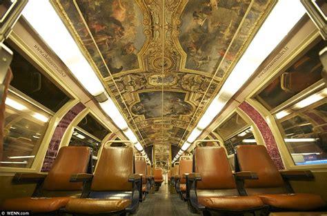 paris commuter train  carriages transformed  resemble