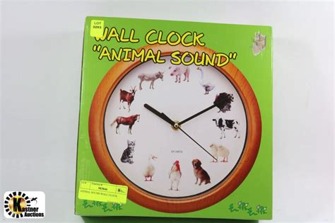 animal sound wall clock kastner auctions