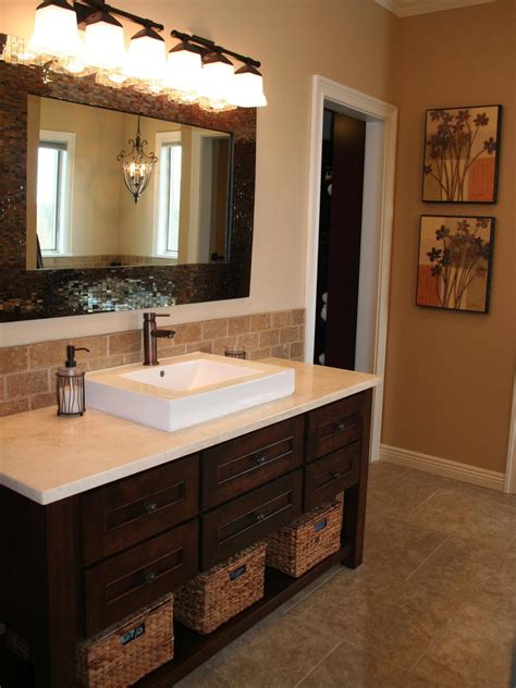 bathroom vanity backsplash ideas bathroom backsplash bathroom ideas designs hgtv