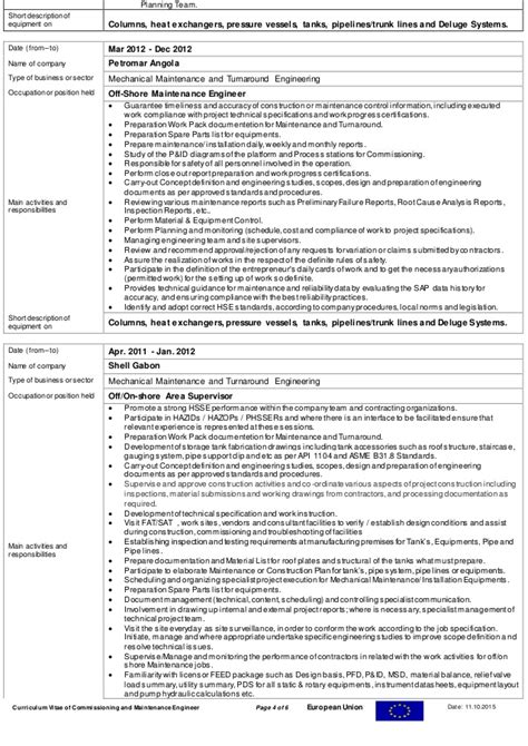 Piping Pre Commissioning Supervisor Resume by Piping Commissioning Engineer Resume