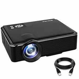 Somek Projector 2400 Lumens Led Mini 1080p Projector