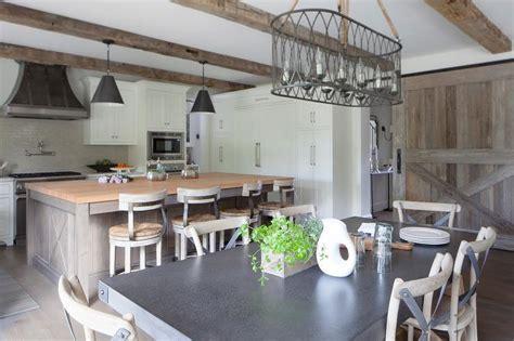 Barn Board Sliding Kitchen Door On Rails - Transitional