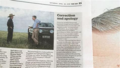 Aussie Newspaper Issues Huge Correction After Error