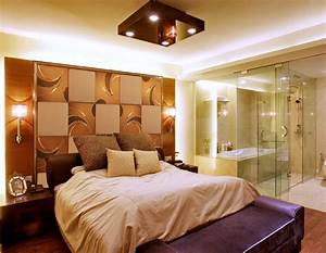 Background wall mirror tiles contemporary bedroom
