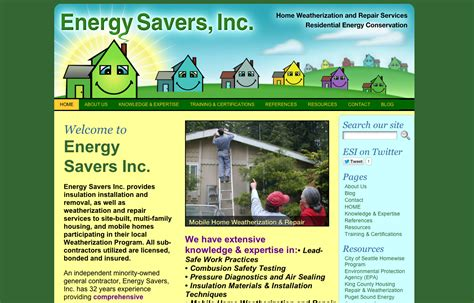 bellingham web design energy savers inc net bob paltrow web design bellingham