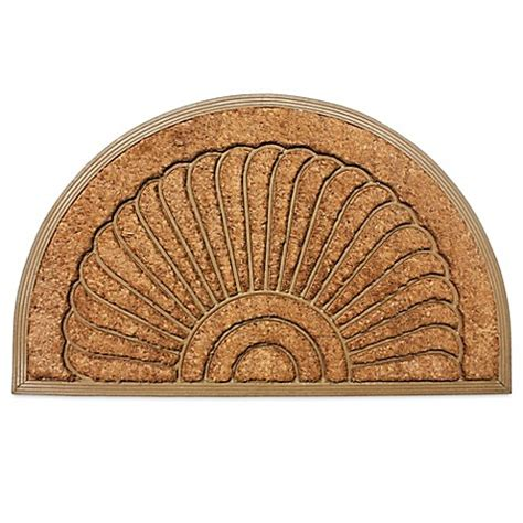 semi circle doormat j m home fashions 18 inch x 30 inch sunburst half