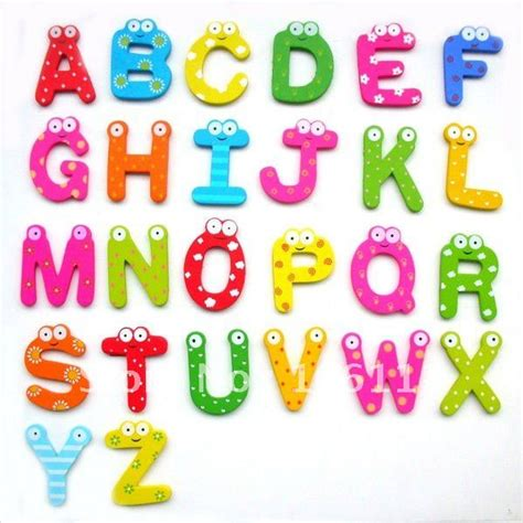 free shipping letters wooden fridge magnets wooden magnetic stickers wooden alphabet fridge