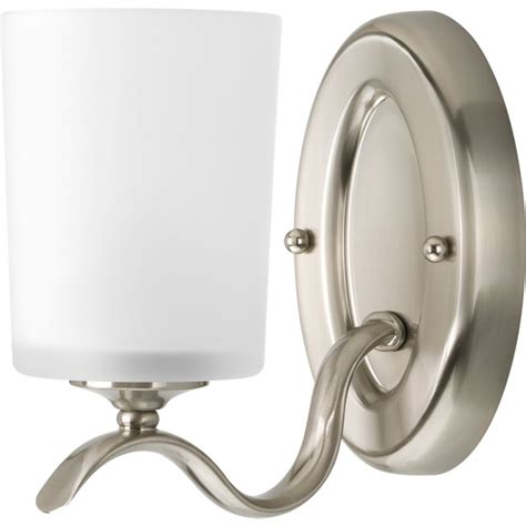 Bathroom Light Fixtures Home Depot Canada by Progress Lighting Inspire Collection Brushed Nickel 1
