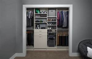 contemporary reach in closet organizer plans