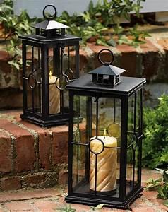 Set of 2 garden candle lanterns for Garden candle lanterns