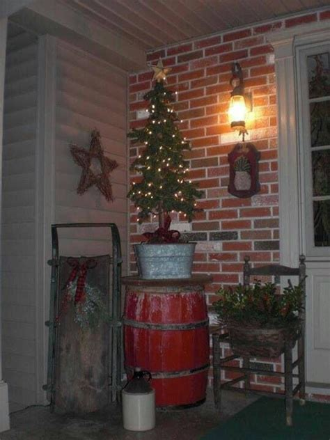 prim christmas porch christmas pinterest