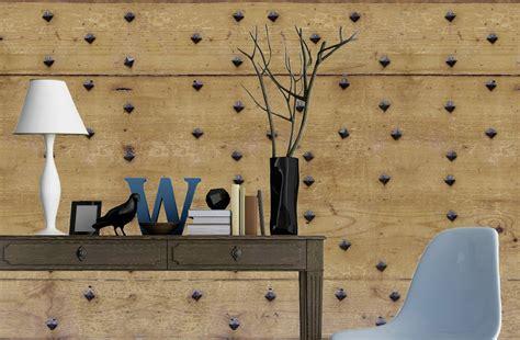 image de chambre romantique porte clous papier peint ancienne porte cloutée