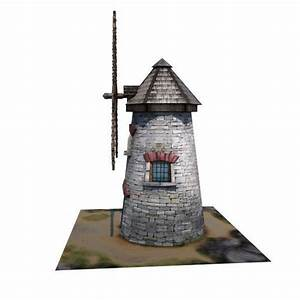 Medieval Building 09 Windmill 3D Model Game ready .fbx ...