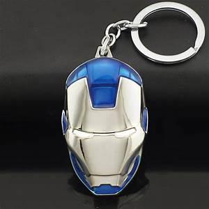 Iron Man Mask Stainless steel Keychain
