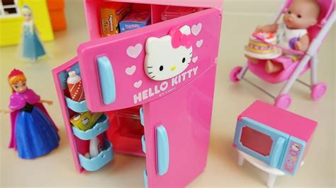 Hello Kitty Refrigerator And Baby Doll Kitchen Toys
