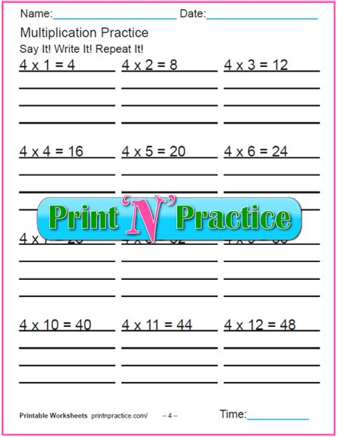 fun multiplication worksheets charts flash cards
