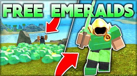 giving away emerald armor to noobs roblox booga booga