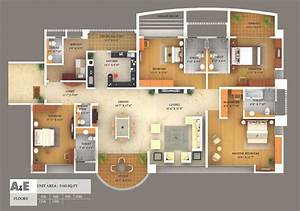 Bedroom  Simple House Plan With 5 Bedrooms 3d Simple House