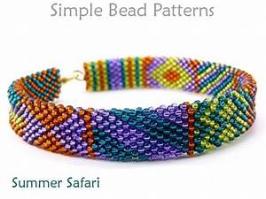 Brick Stitch Beading Pattern For A Diy Bracelet With Seed