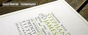 Papermarc raised ink printing thermography wedding for Wedding invitations with raised printing