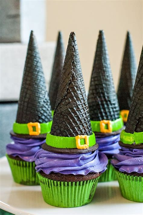 easy canapes to in advance these witchhat cupcakes for my see