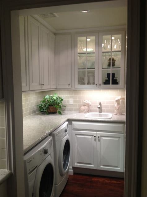transitional kitchen butlers pantry laundry