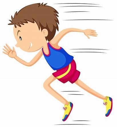 Running Run Cartoon Runner Friction Race Vector
