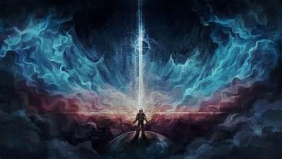 Deviantart Space Digital Fantasy Earth Astronaut Universe