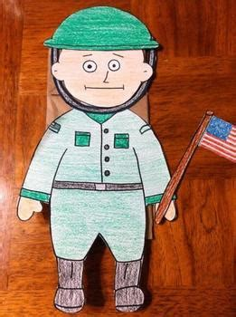 veterans day soldier puppet  puppet korner   tpt
