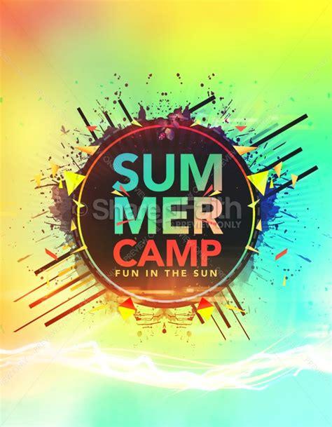 summer camp fun   sun church flyer template flyer
