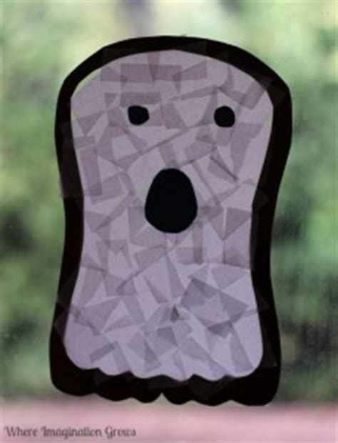 10 ghost crafts from the weekly co op the sensory 554   ghost window decoration 229x300