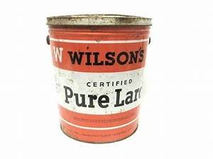 Vintage Lard Bucket Collectible Tin Wilson's Chicago 8 ...
