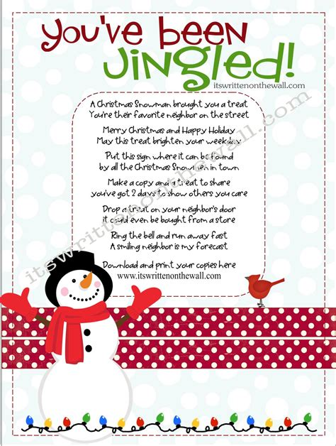 it s written on the wall christmas you ve been jingled