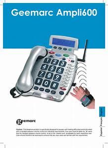 Geemarc Telephone Ampli600 User Guide