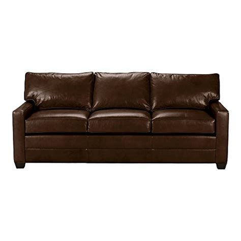 Ethan Allen Leather Sofa Reviews by Ethan Allen Track Arm Leather Sofa 78