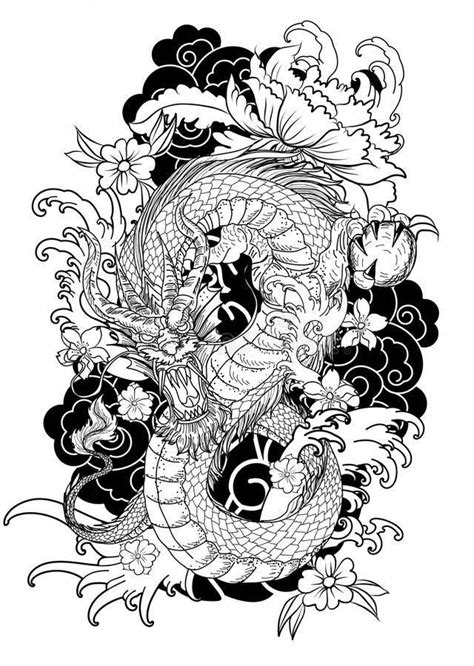 japanese tattoos design #Japanesetattoos | Tattoo coloring book, Japanese tattoo designs, Dragon