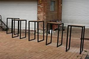 Table Mange Debout Style Industriel : tables industrielle sur mesure et sur commande en bois m tal ~ Melissatoandfro.com Idées de Décoration