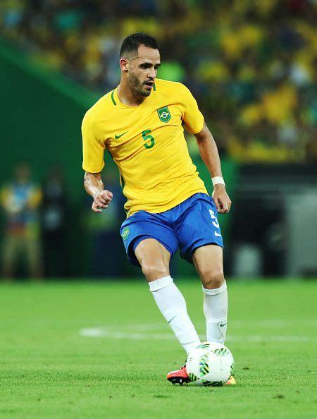 Renato Augusto of Brazil controls the ball during Brazil ...