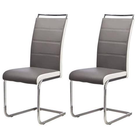 chaise de salle a manger grise lot de 4 chaises de salle à manger gris blanc