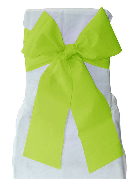 housse de chaise vert anis pas cher noeuds pour housse de chaise x 6 décoration de table bapteme