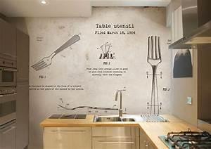 Tapete fur kuche auswahlen 20 ideen fur wandgestaltung for Tapete küche